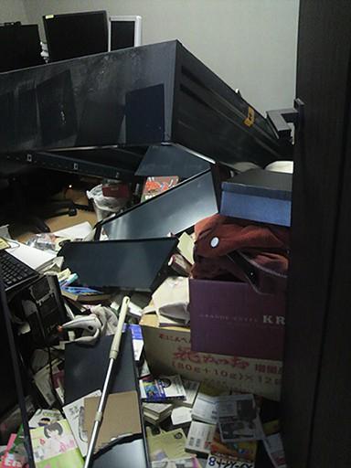 震災直後の部屋の様子