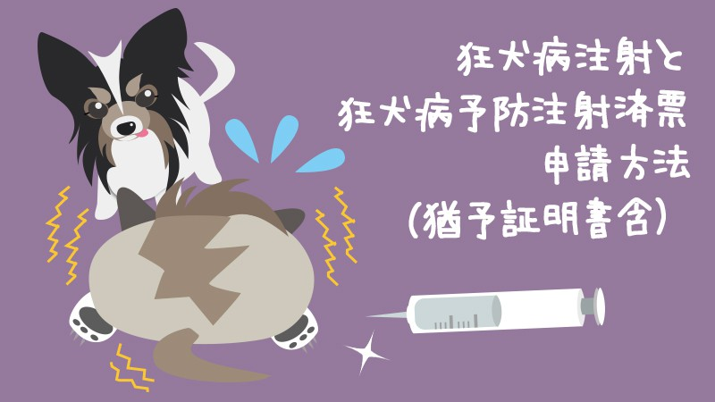 狂犬病注射と狂犬病予防注射済票申請方法(猶予証明書含)アイキャッチ